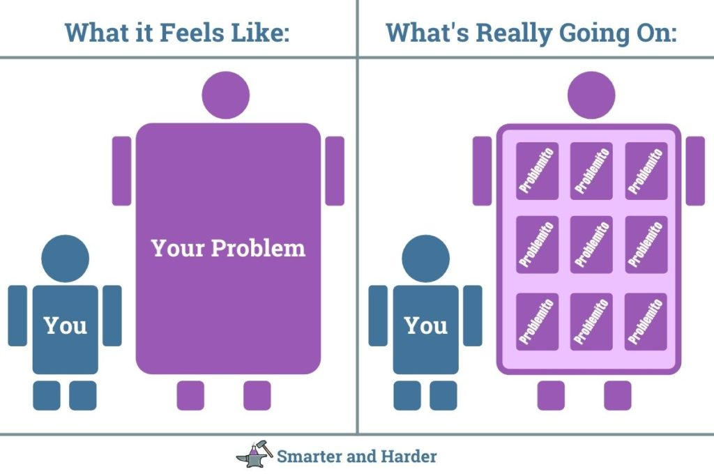 smarter and harder graphic breaking down problems into smaller problems